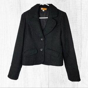 Tulle Black Blazer Jacket Wool Blend Medium